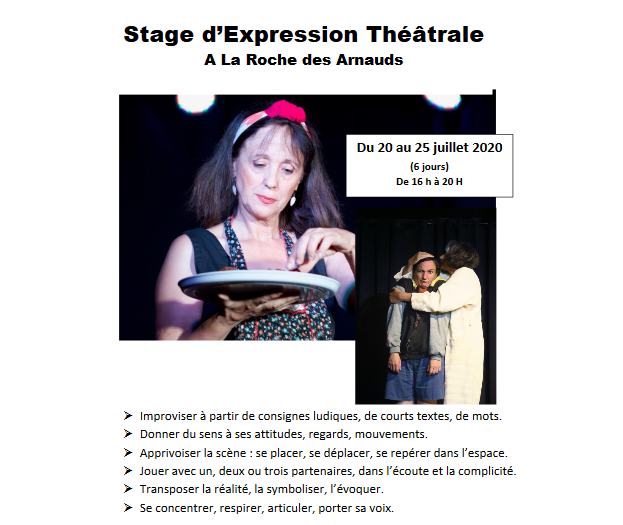 Stage d'Expression Théâtrale